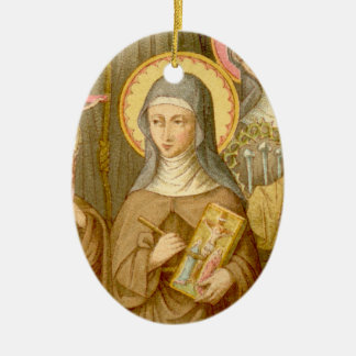 Double Image St. Catherine of Bologna (SAU 027) Ceramic Ornament