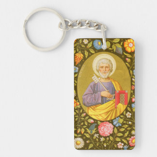 Double Image St. Peter the Apostle (PM 07) Double-Sided Rectangular Acrylic Keychain