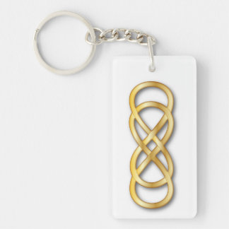 Double Infinity Gold - Key Chain
