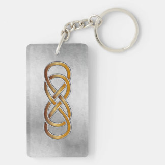 Double Infinity Marbled Amber 2 - Key Chain