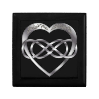 Double Infinity Silver Heart 1 - Gift Box