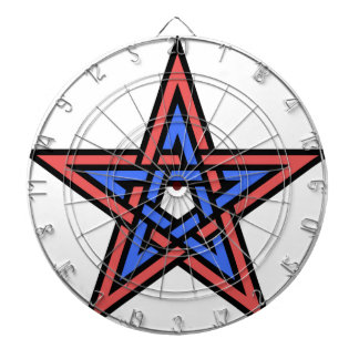 Double-interlaced-pentagram Dartboard