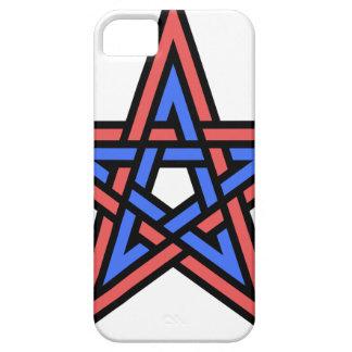 Double-interlaced-pentagram iPhone 5 Case