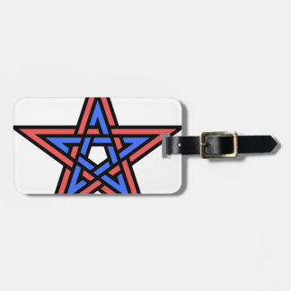 Double-interlaced-pentagram Luggage Tag