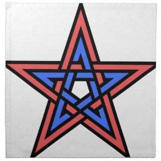 Double-interlaced-pentagram Napkin