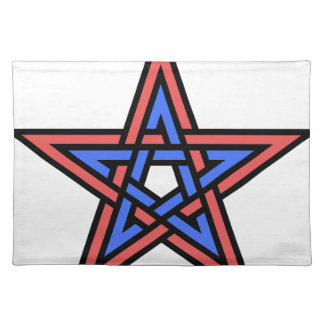 Double-interlaced-pentagram Placemat