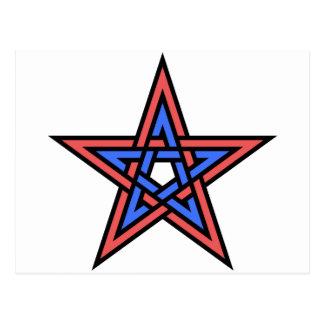 Double-interlaced-pentagram Postcard