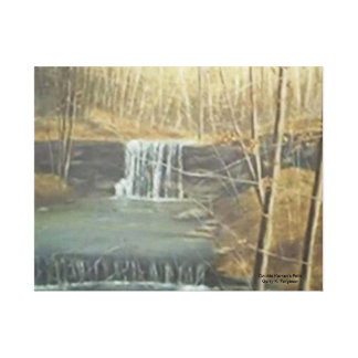 DOUBLE KERNEN'S FALLS WRAPPED CANVAS PRINT