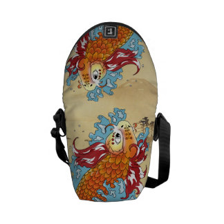 Double Koi Bag Messenger Bag