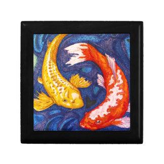 Double Koi Fish Design Jewelry Box