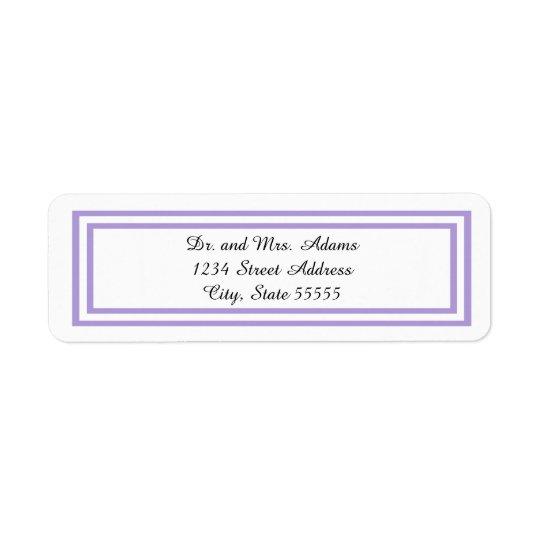 Double Lavender Trim - Address Label