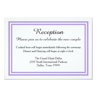 Double Lavender Trim - Reception Invition Card