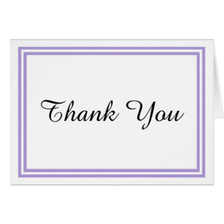 Double Lavender Trim - Thank You Card