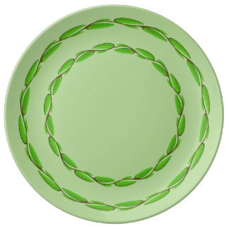 Double Leaf Circle by Kenneth Yoncich Plate
