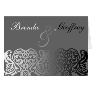 Double Monogram Thank You Note Cards