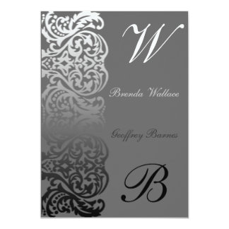 Double Monogram Wedding Invitation