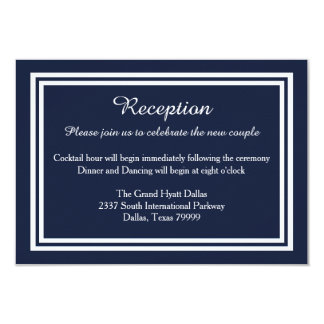 Double Navy Trim - Reception Invition Card
