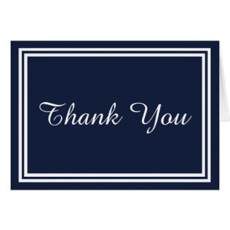 Double Navy Trim - Thank You Card