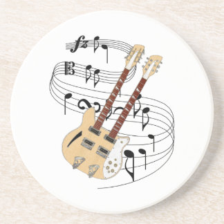 Double Neck Guitar Coaster