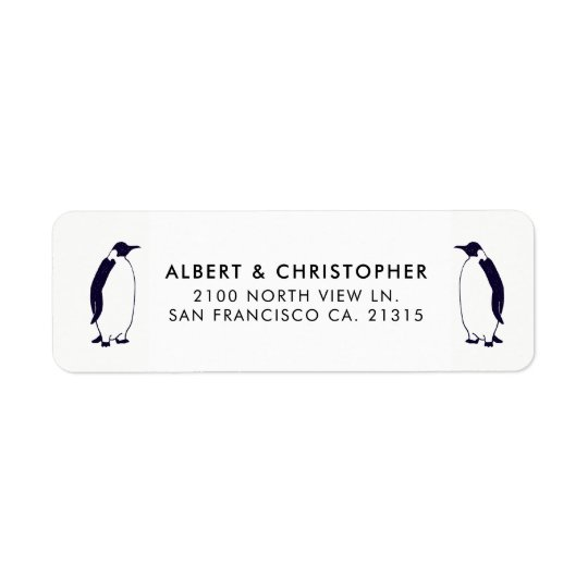 Double Penguins Funny Reference | Return Address