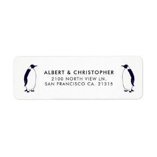 Double Penguins Funny Reference | Return Address Return Address Label