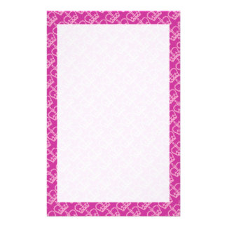 Double Pink Crowns Custom Stationery