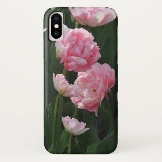 Double Pink Tulips Barely There iPhone X Case