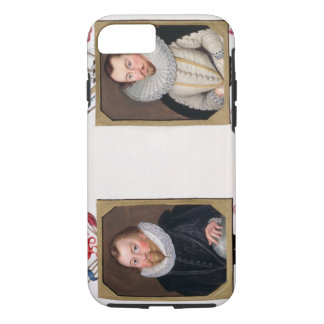 Double portrait of Sir Francis Drake (c.1540-96) a iPhone 7 Case