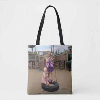 Double Princess Triple Rainbow Tote Bag