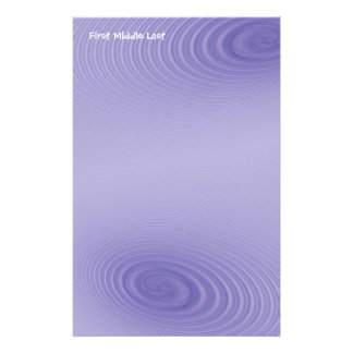 Double Purple Swirls Custom Stationery