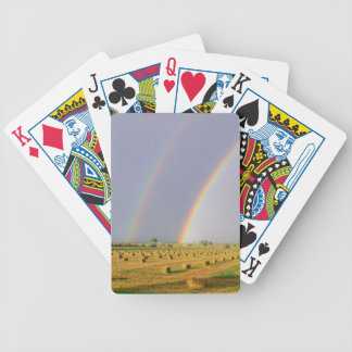 Double Rainbow Bicycle Playing Cards