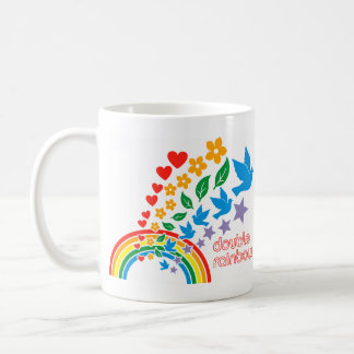Double Rainbow Double Up Mug