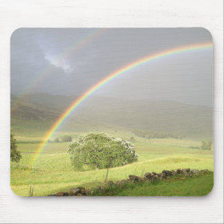 Double rainbow in Glenshee Scotland. Mouse Pad