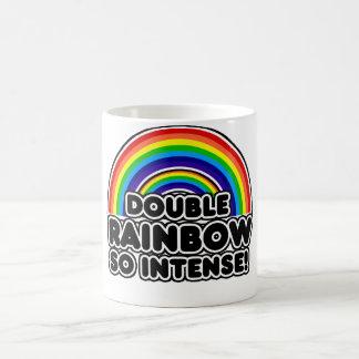 Double Rainbow so Intense Basic White Mug