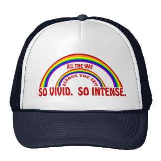 DOUBLE RAINBOW - SO VIVID  SO INTENSE TRUCKER HAT