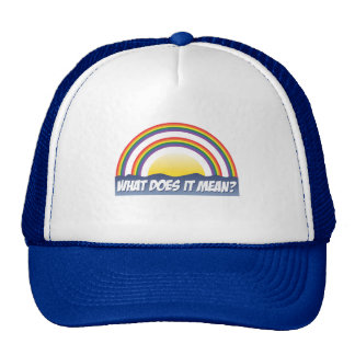 Double Rainbow What Does It Mean? Trucker Hat