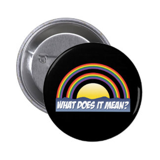 Double Rainbow What Does It Mean Pinback Button