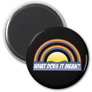 Double Rainbow What Does It Mean Fridge Magnets