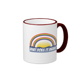 Double Rainbow What Does It Mean? Ringer Mug