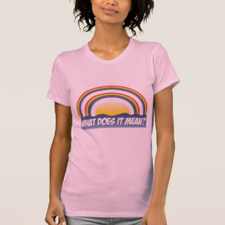Double Rainbow What Does It Mean? Tees