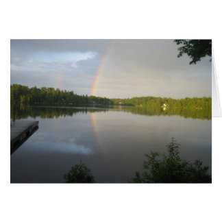 Double rainbows over Clear Lake Card