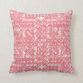 Double Red Maze Throw Pillow