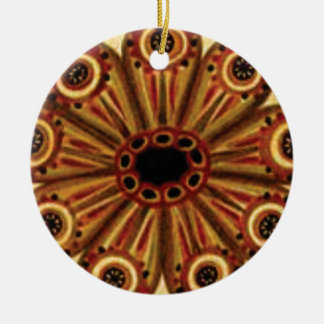 double rings of circles ceramic ornament