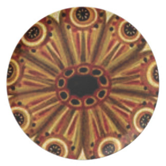 double rings of circles plate
