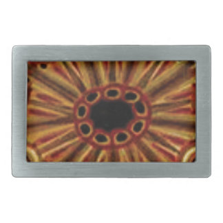 double rings of circles rectangular belt buckle
