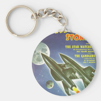 Double Rocket Keychain