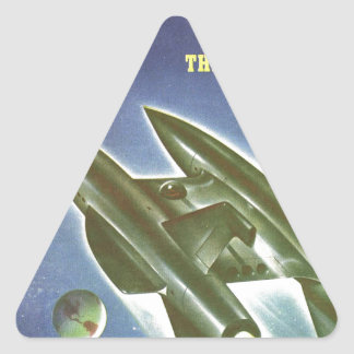 Double Rocket Triangle Sticker