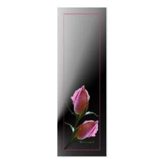 Double Rose on Black Profile Card Business Card Templates