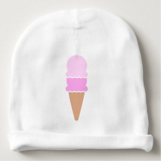 Double Scoop Ice Cream Cone - Pinks Baby Beanie