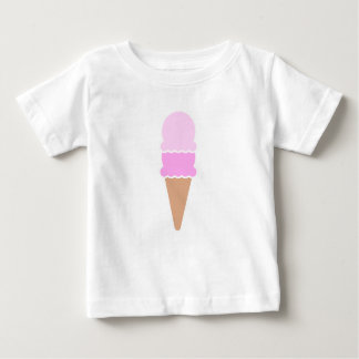 Double Scoop Ice Cream Cone - Pinks Baby T-Shirt